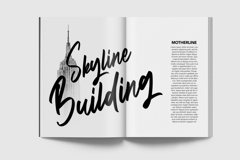 Motherboard - Modern Script Font example image 3