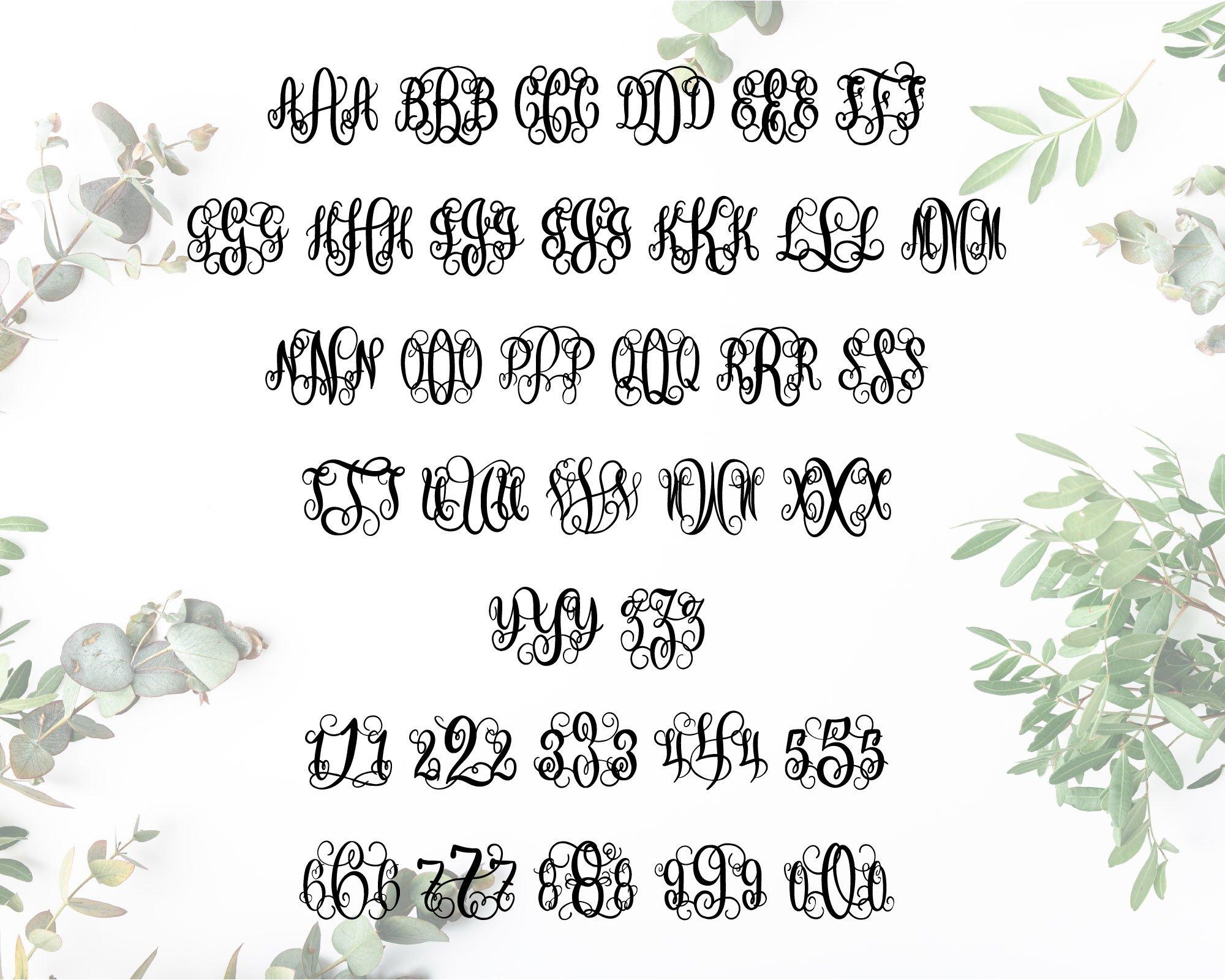 BIG Monogram Font Bundle | The Ultimate Bundle! example image 3