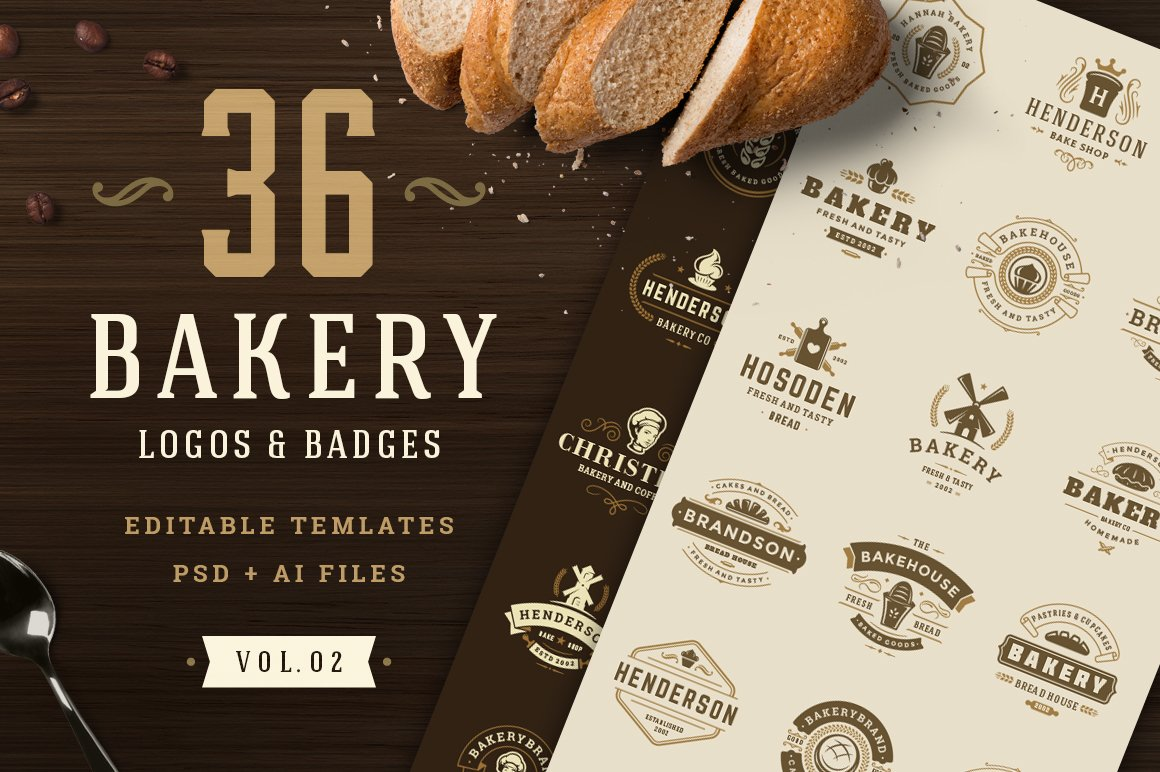 Bakery Logos and Badges example image 1