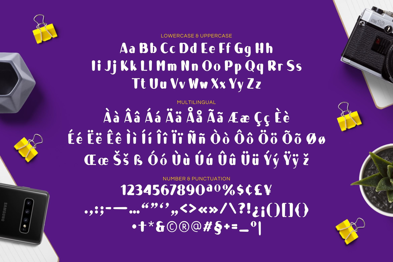 Violet Blush Display Font example image 3