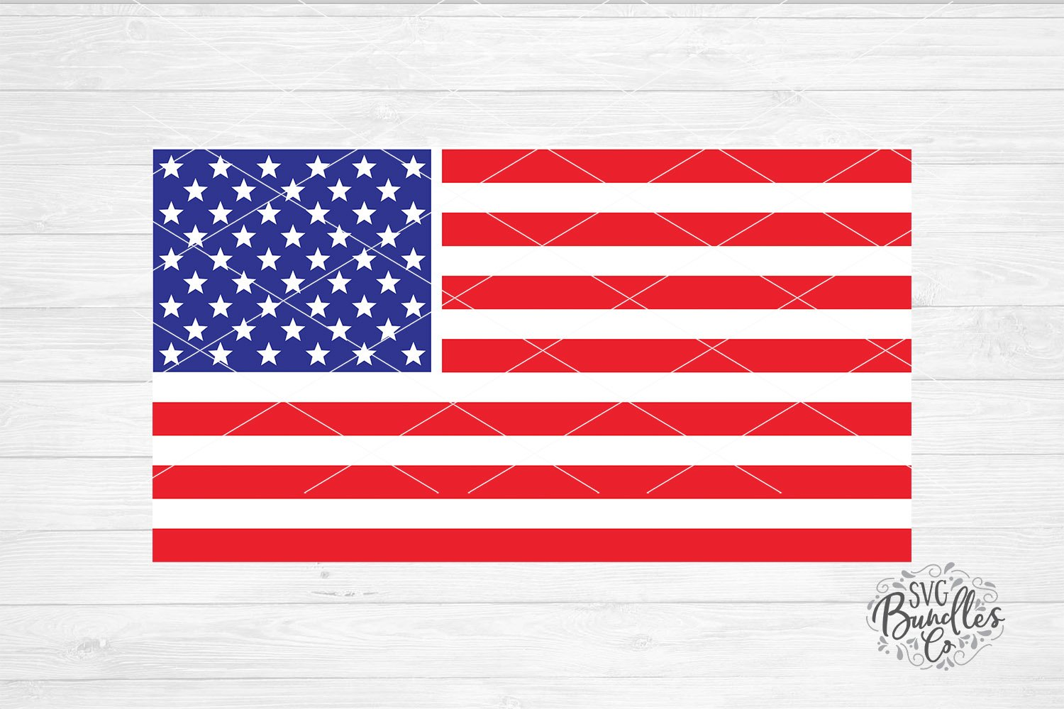 American Flag - 4th of July SVG DXF PNG example image 1