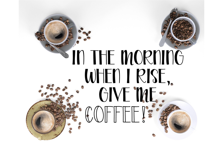Coffee Grinder - Inline & Solid - Caps & Script example image 4