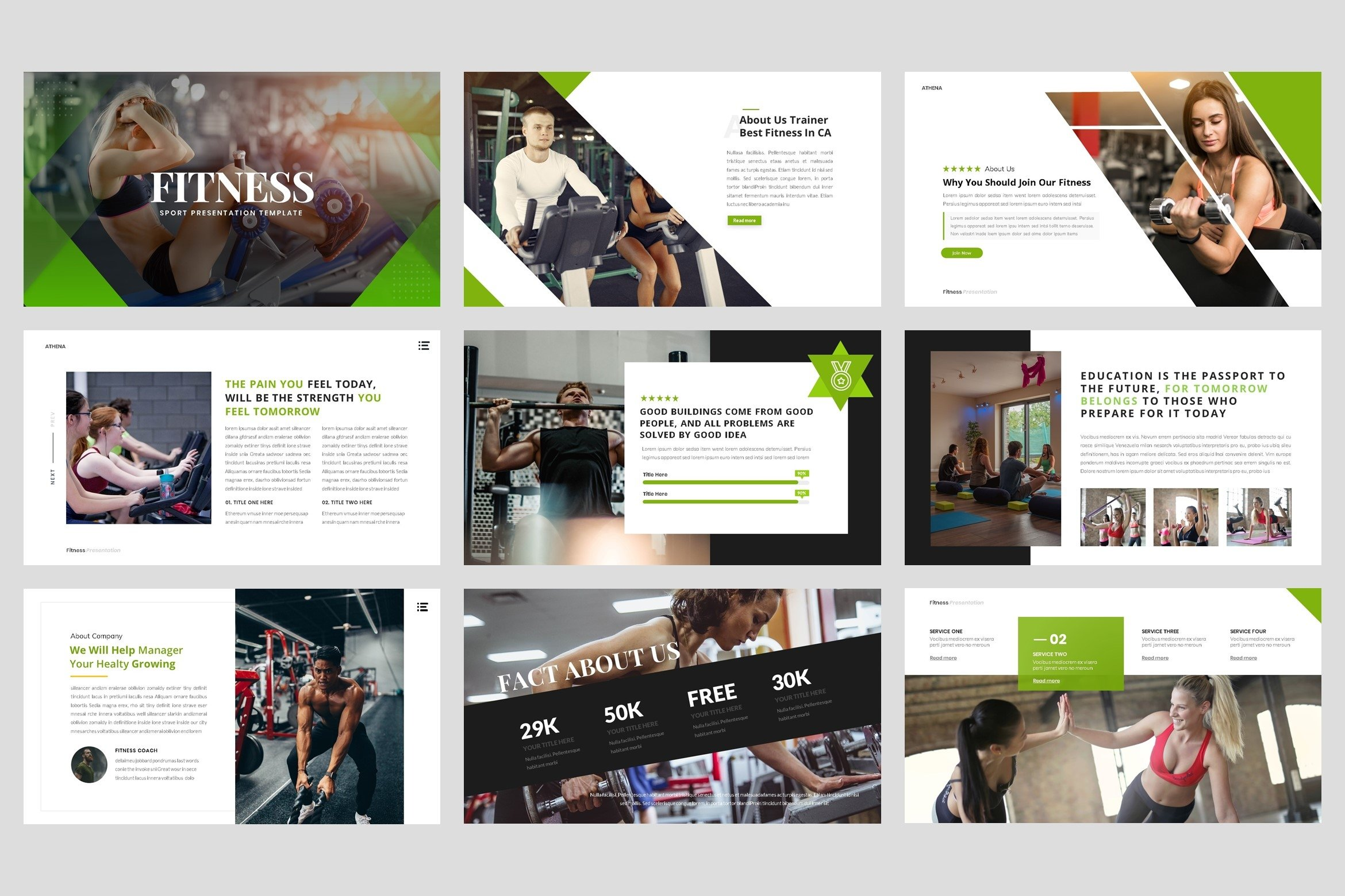 Sport - Fitness Business Workout PowerPoint Template example image 2