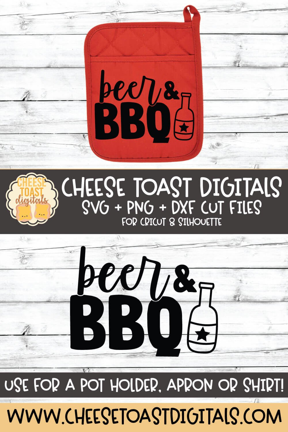 Pot Holder SVG | Beer and BBQ example image 2