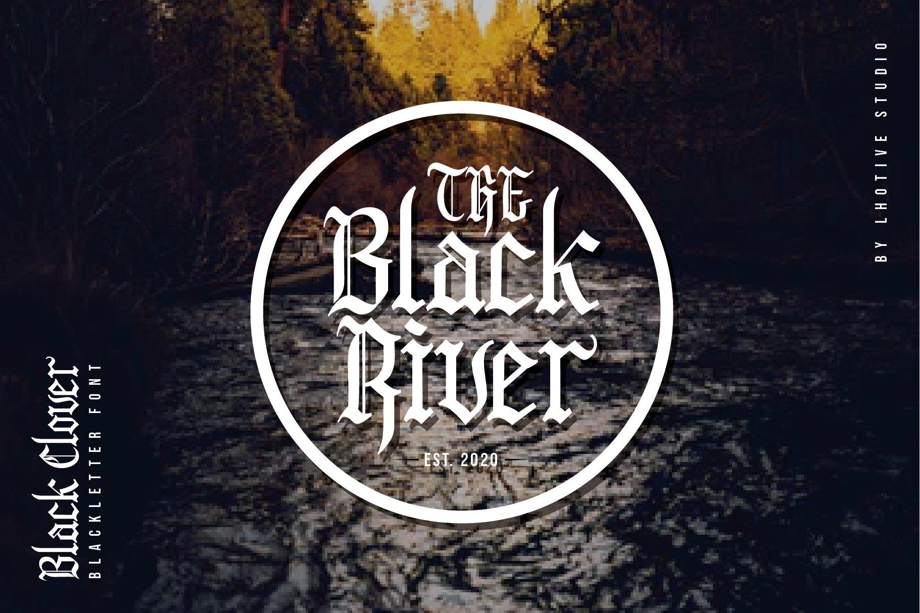 Black Clover | Blackletter Font example image 3