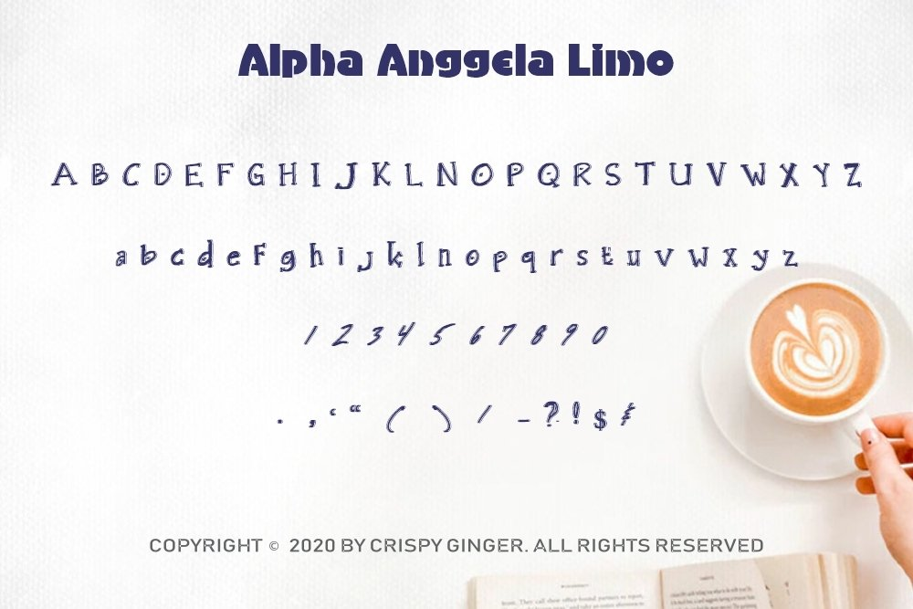 Alpha Anggela - 18 Font styles and 150 Swashes example image 10