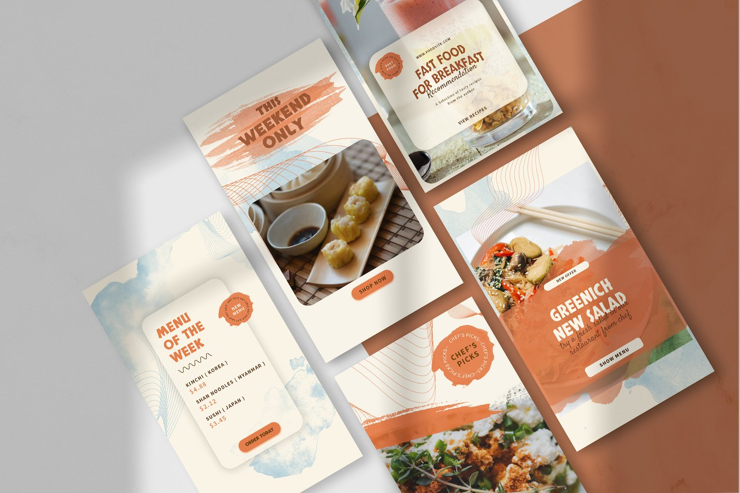 Asian Food Instagram Stories Template example image 2
