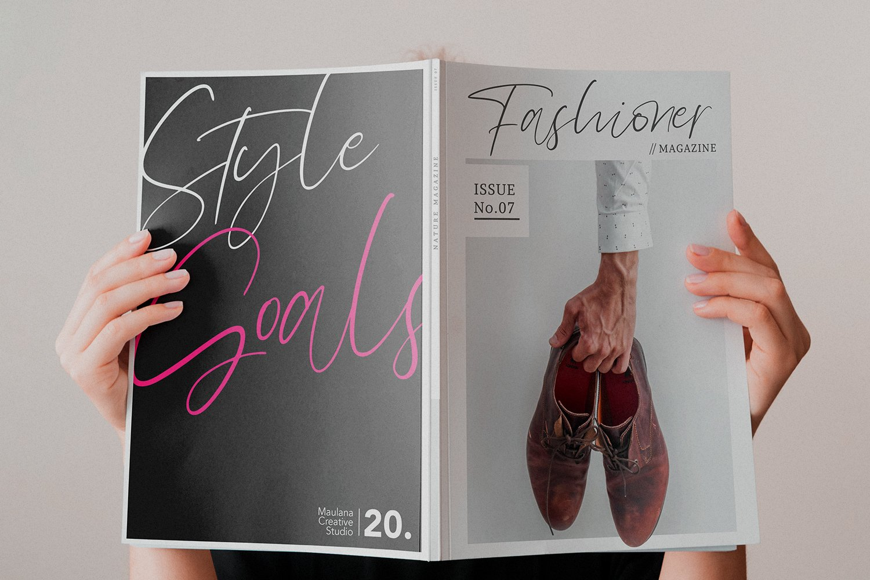 Olioster Elegant Fashion Script Font example image 2