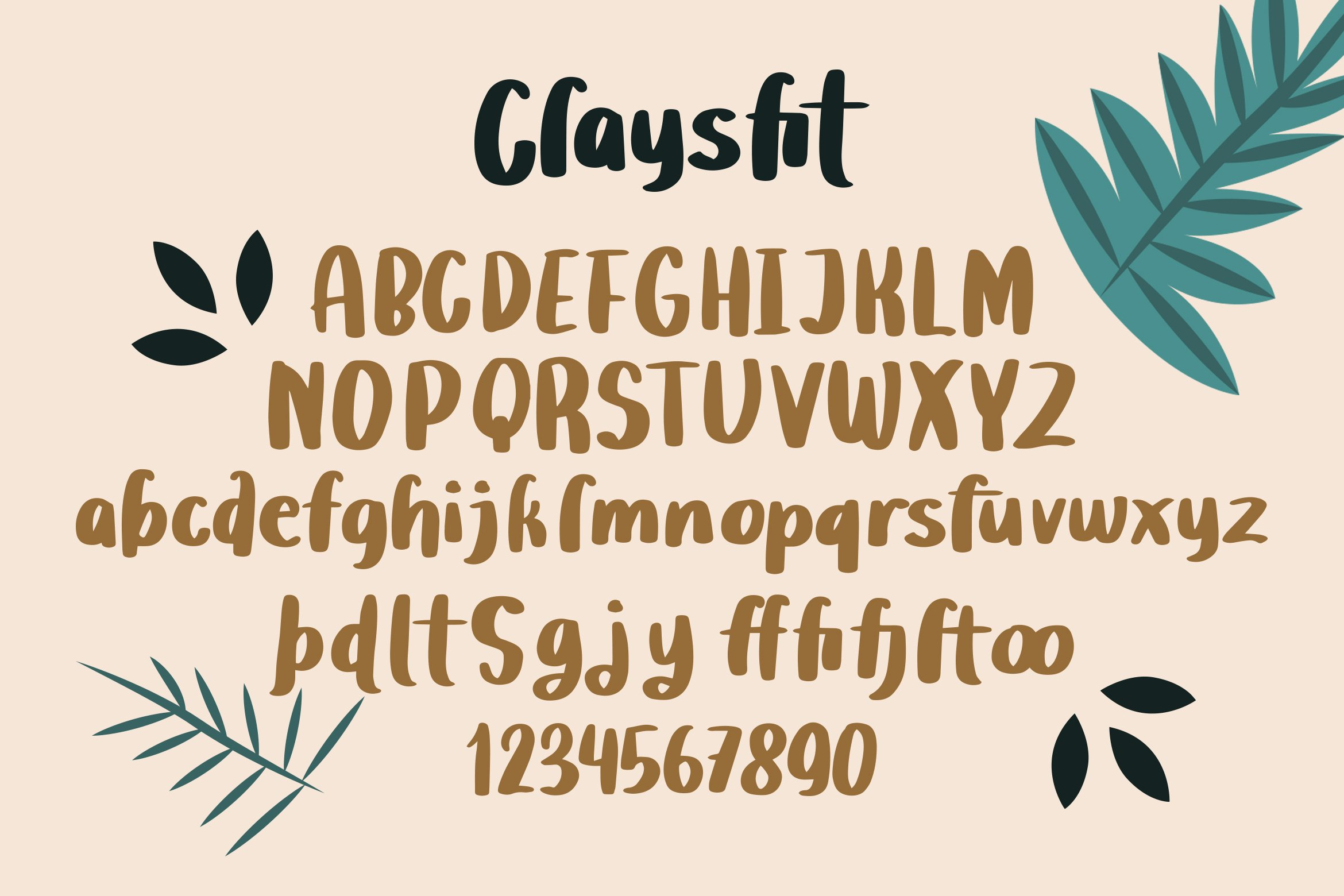 Claysfit - Cute Display Fonts example image 3