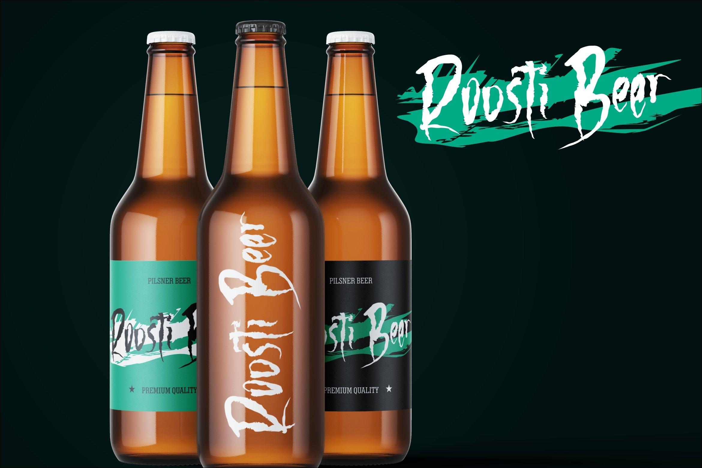 Killer Beer - A Creepy Brush Font example image 3