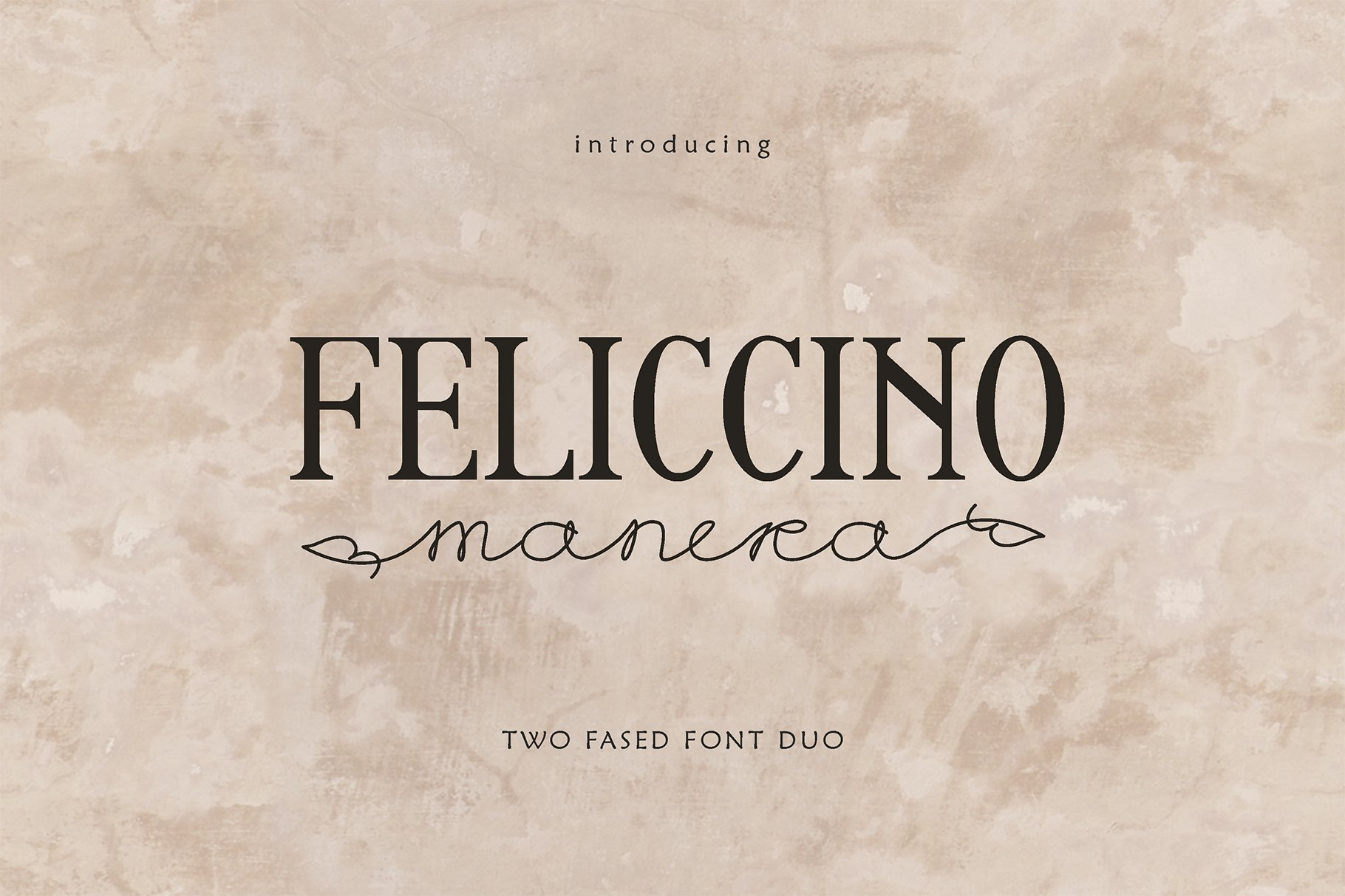 Feliccino Manera Two Faced Font Duo example image 1