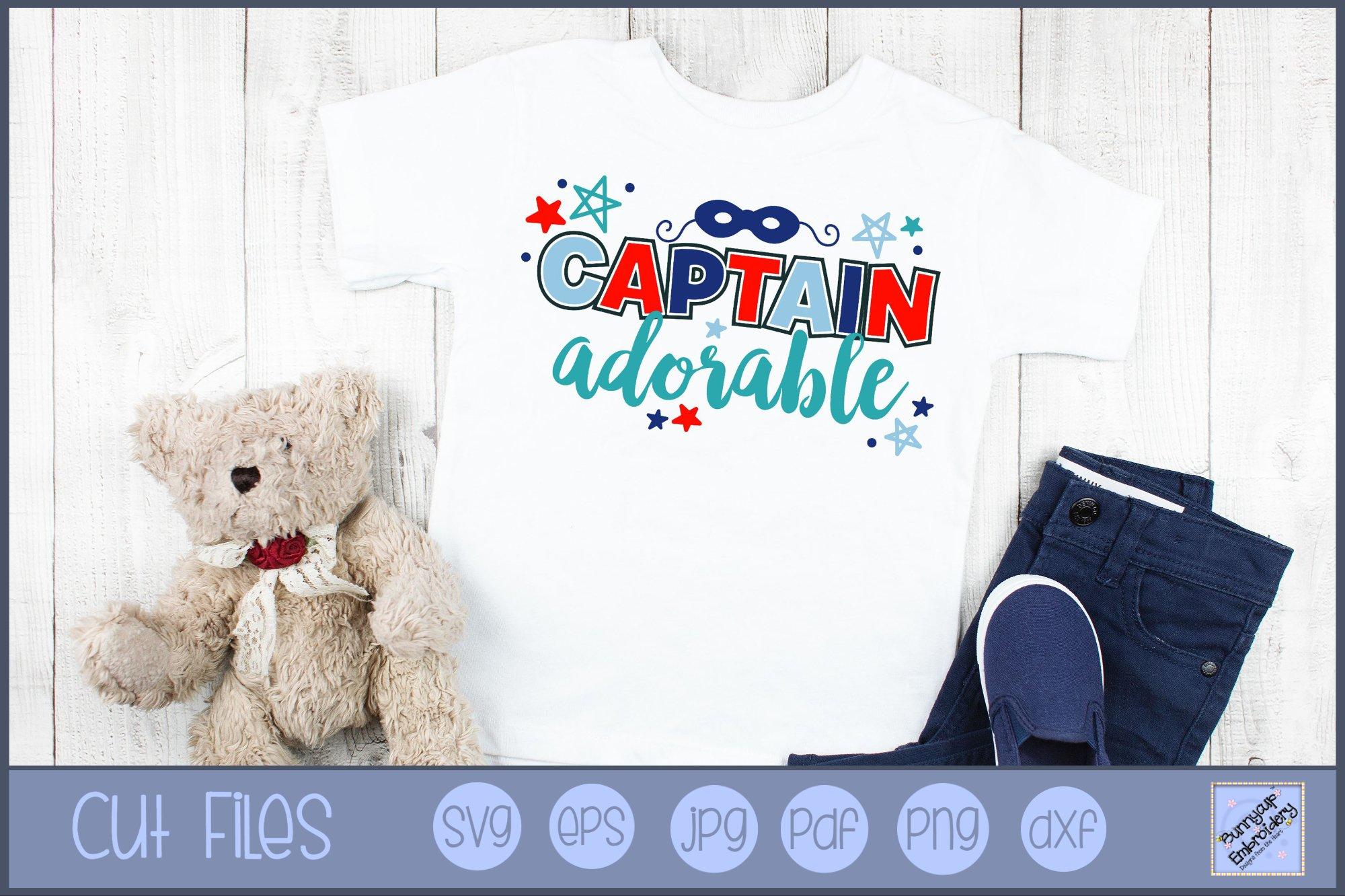 Captain Adorable Svg Clipart Graphic 555138 Cut Files Design Bundles