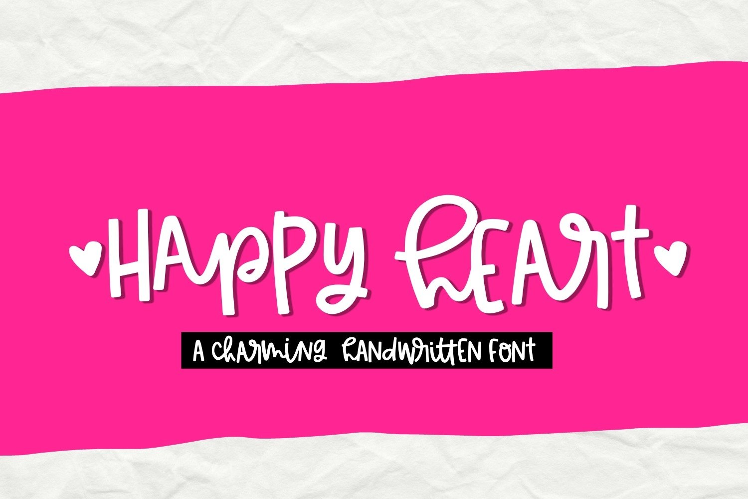 Happy Heart- Smooth Handwritten Font for Crafters example image 1