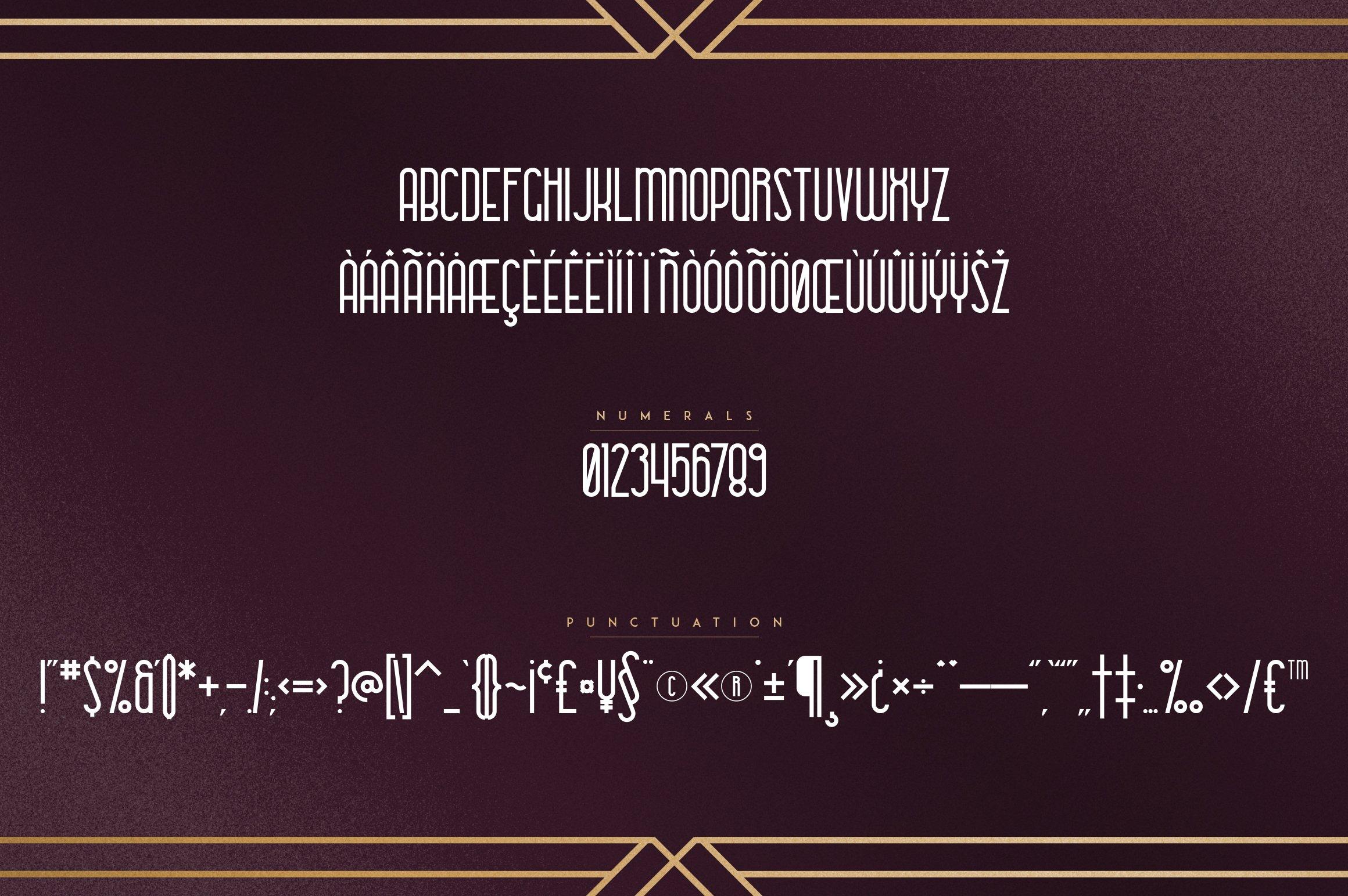Metria Street - Art Deco Typeface example image 8