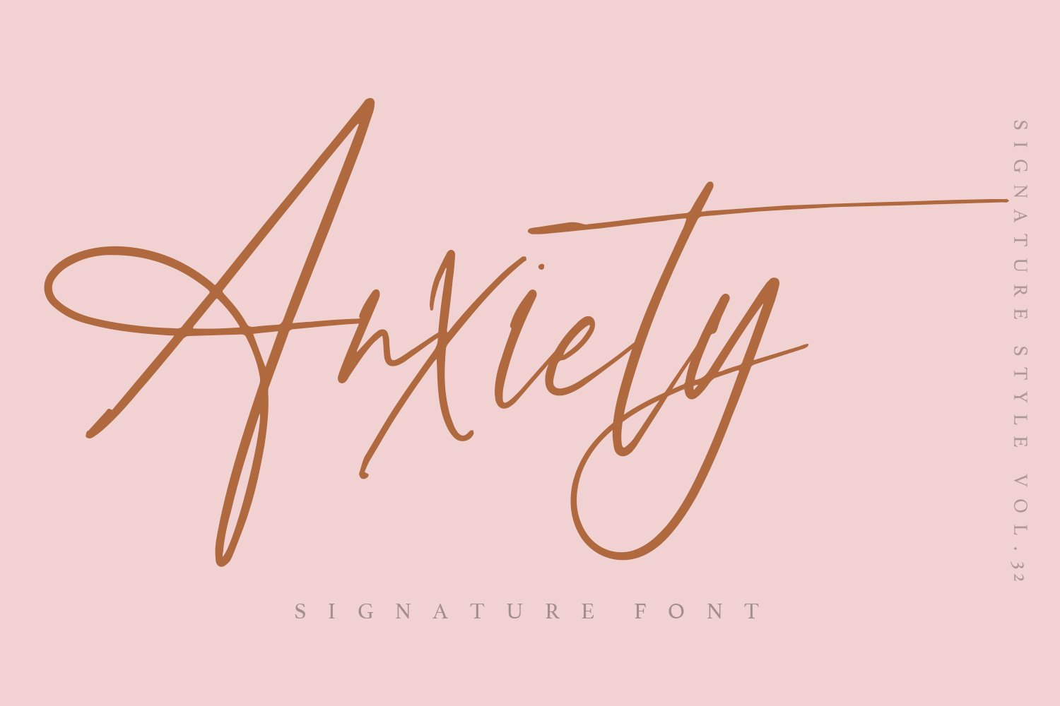 Anxiety - Signature font example image 1