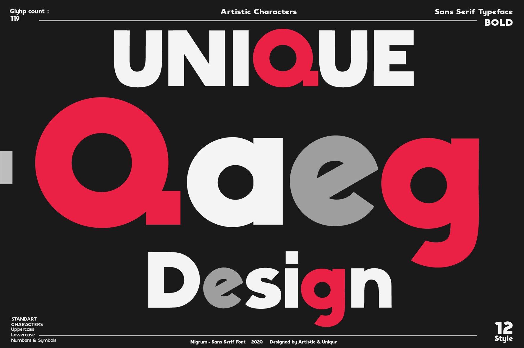 Nigrum - Sans Serif font Family example image 4