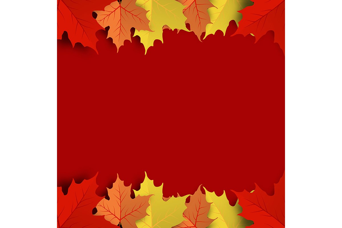 Concept and idea colorful autumn maple leaf background example image 1