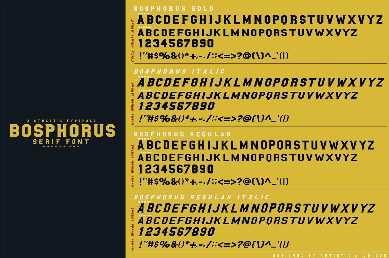BOSPHORUS Serif font example image 3