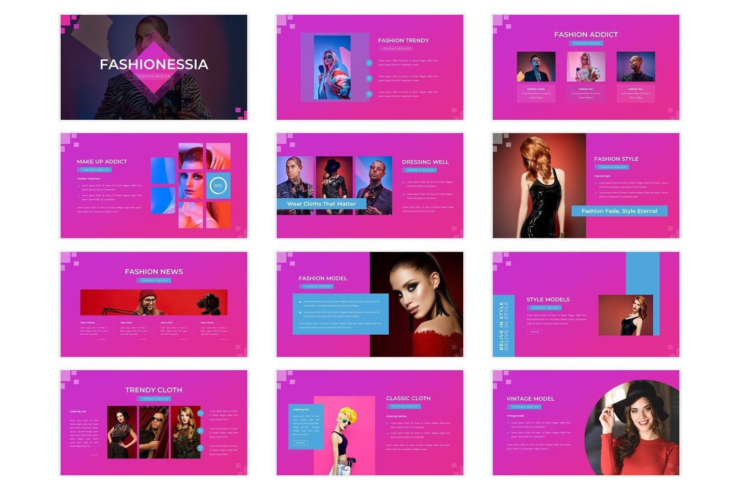 Fashionessia - Powerpoint Template example image 3