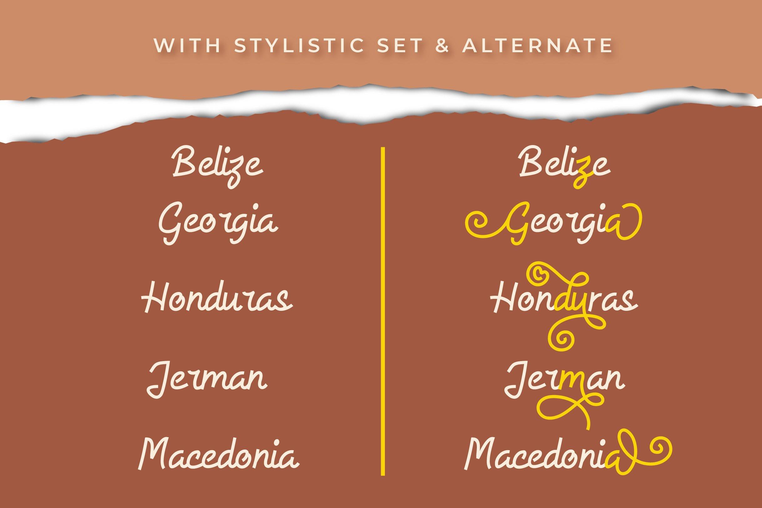 Allysia - a monoline script font example image 5