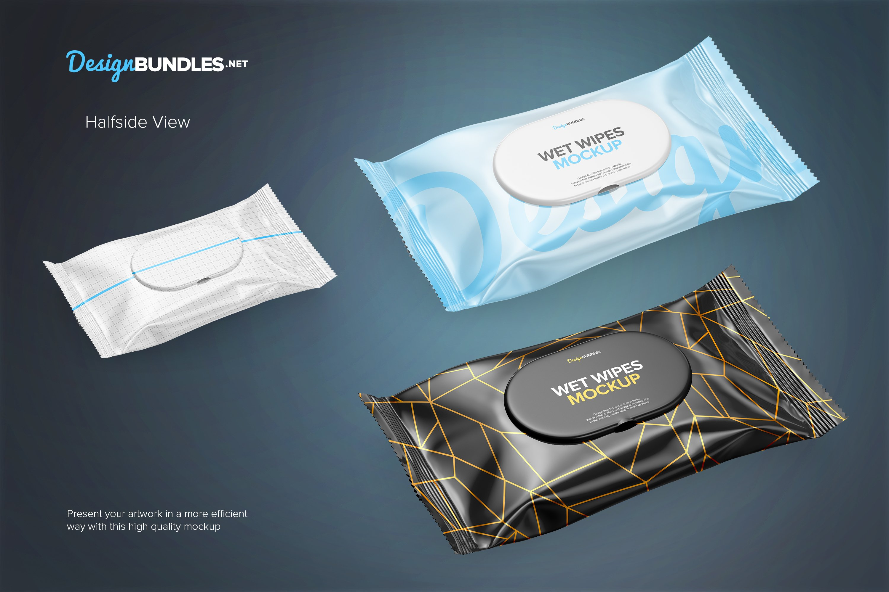 Wet Wipes Pack Mockups example image 3