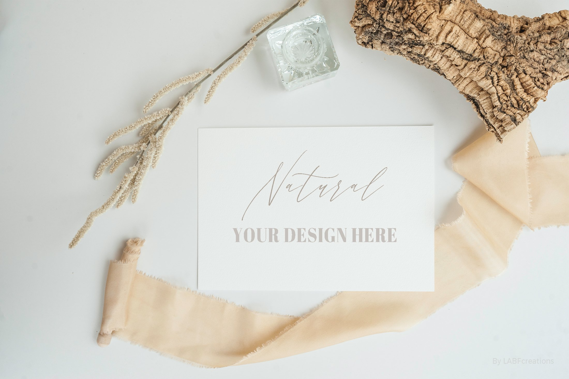 Natural. Mockup and style photos Soft and delicate nude. example image 10