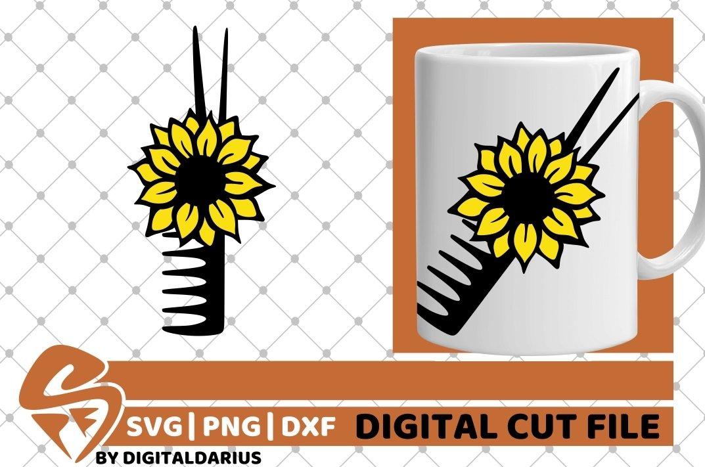 4x Hairdresser Designs Bundle svg, Hairstylist, Sunflower example image 2