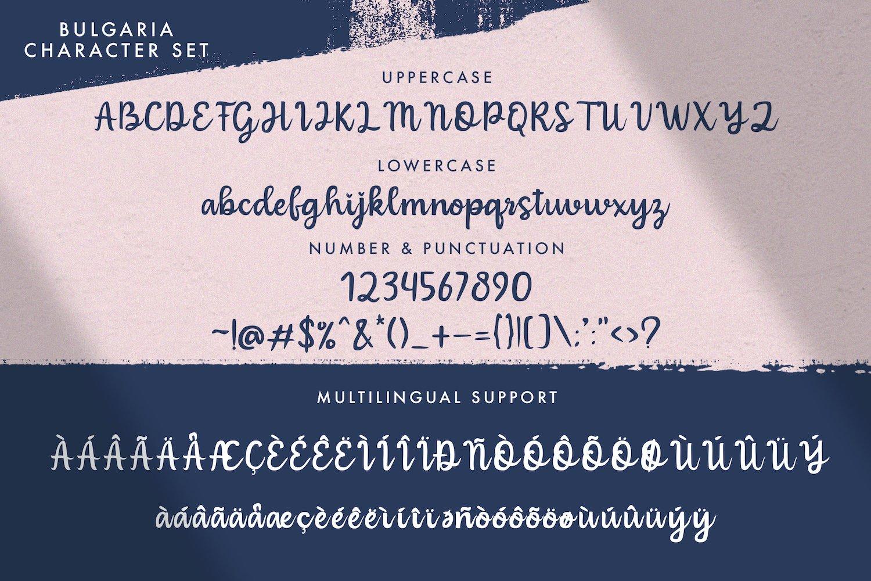 Bulgaria - Modern Calligraphy Font example image 10