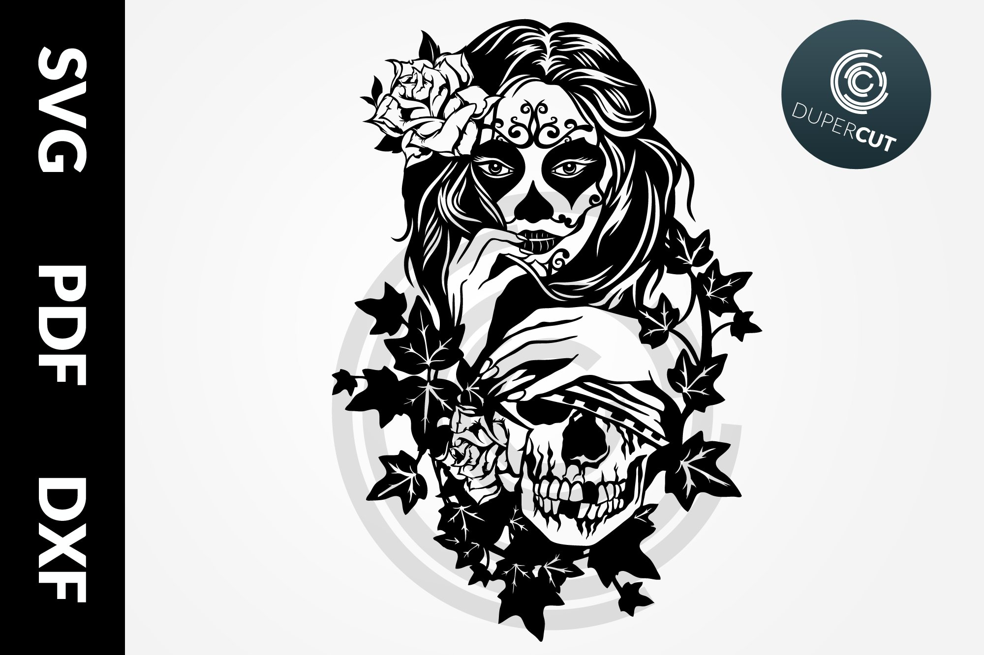 Svg Pdf Dxf Female Sugar Skull Papercutting Template 514973 Paper Cutting Design Bundles Paper sewing patterns are slowly becoming redundant, mainly due to the cost of commercial printing, packaging, and delivery worldwide. svg pdf dxf female sugar skull papercutting template