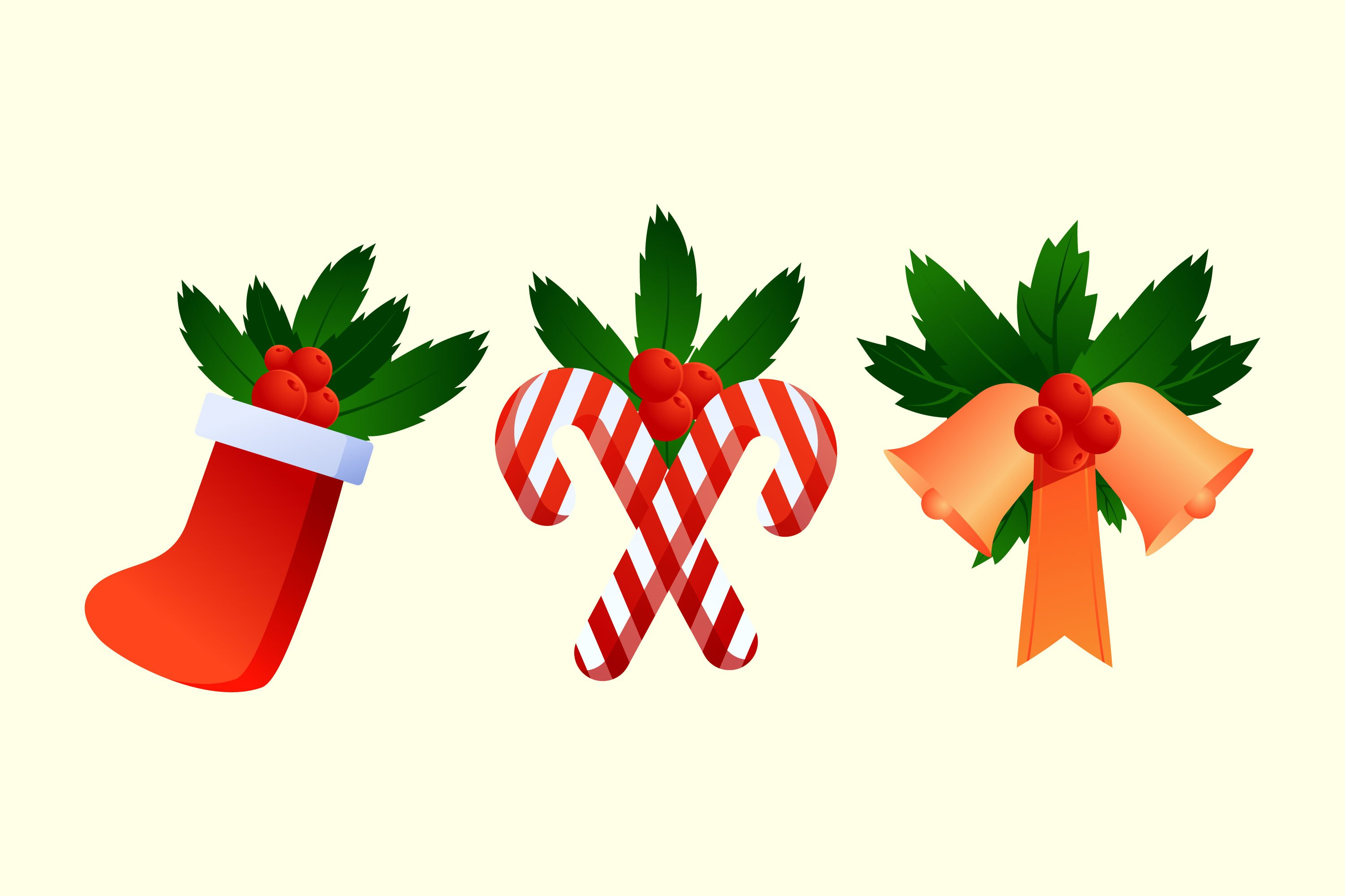 Christmas Holly Illustrations example image 1