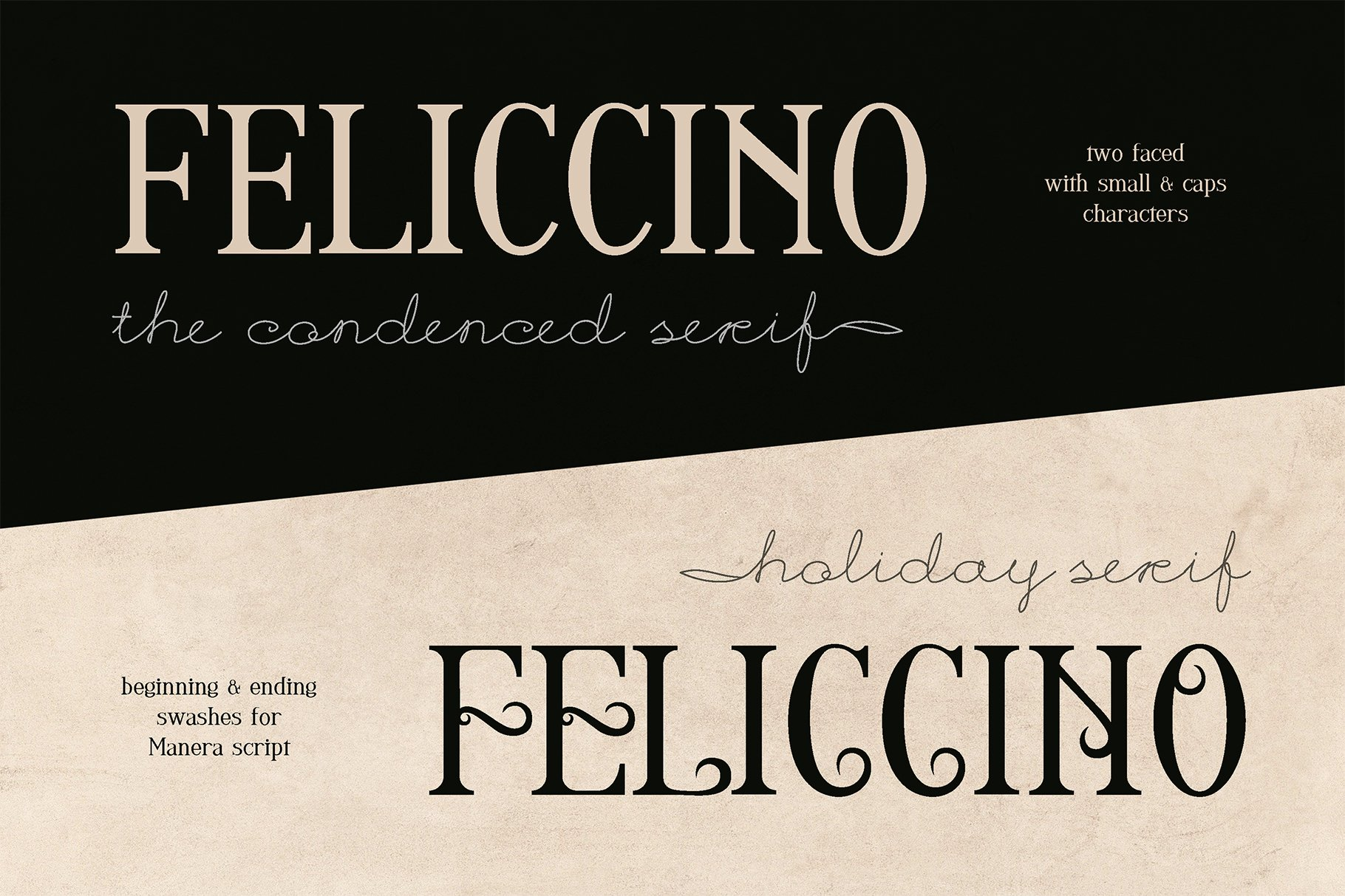 Feliccino Manera Two Faced Font Duo example image 11