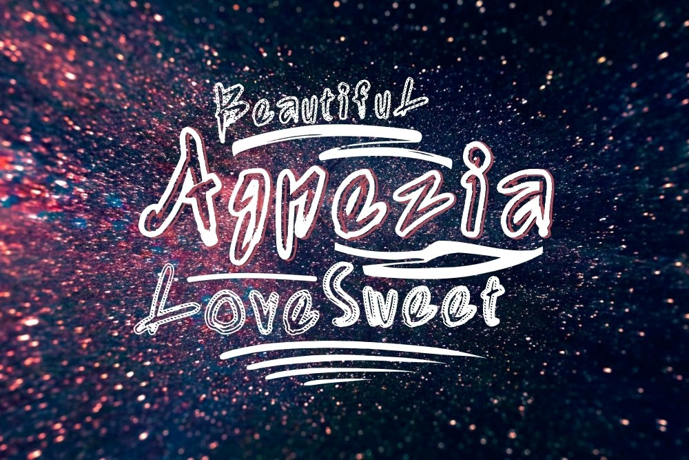 Agnezia - 5 Font styles and 150 Swashes example image 2