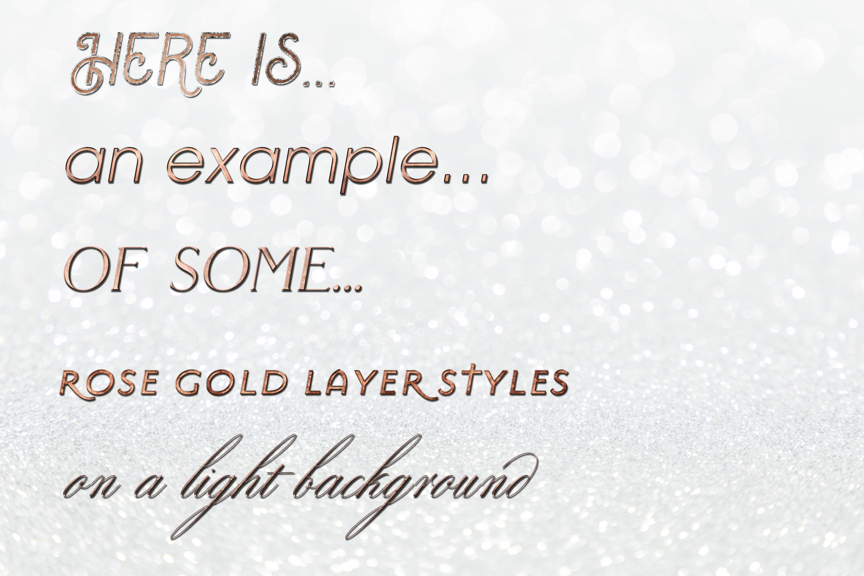 60 Layer Styles Bundle for Photoshop - Gold, Rose G, Silver example image 7