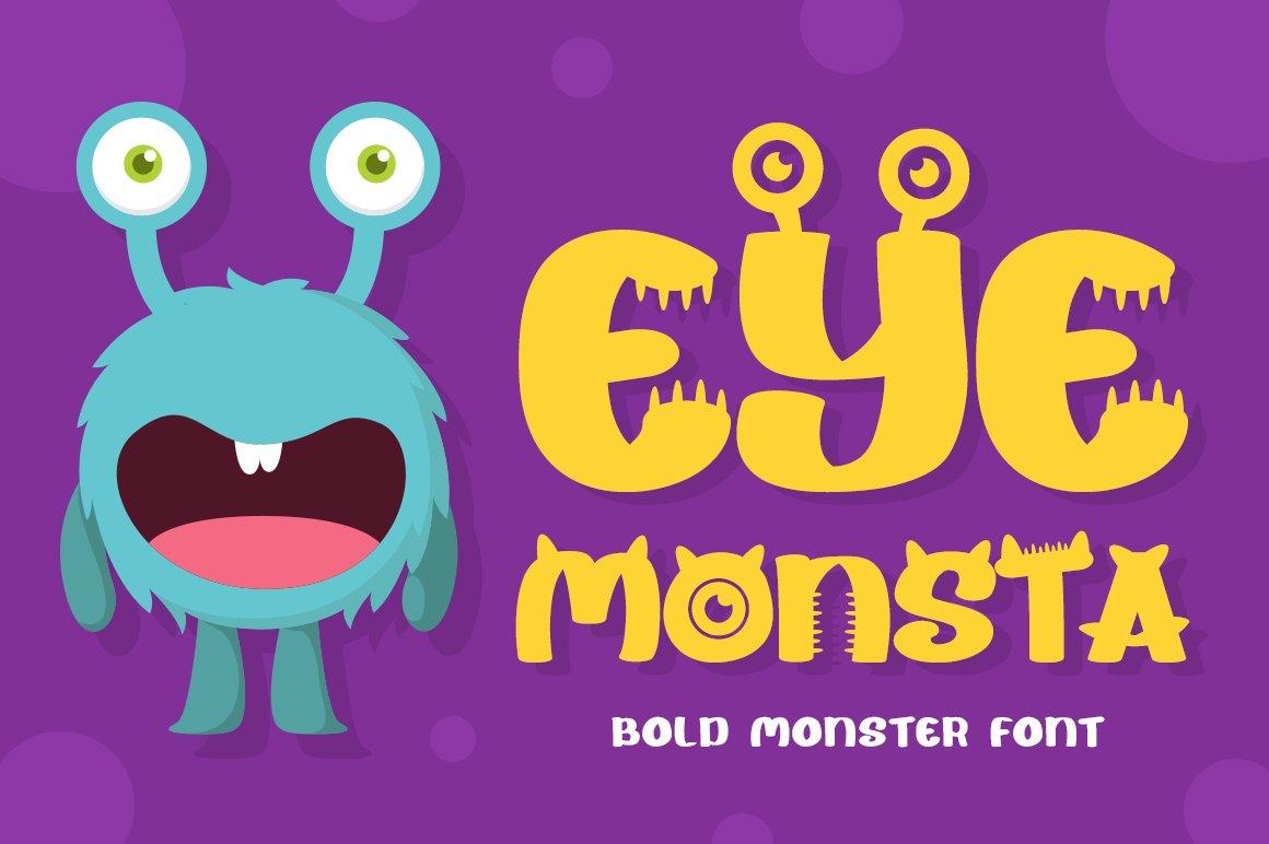 Eye Monsta - Bold Display Font example image 1