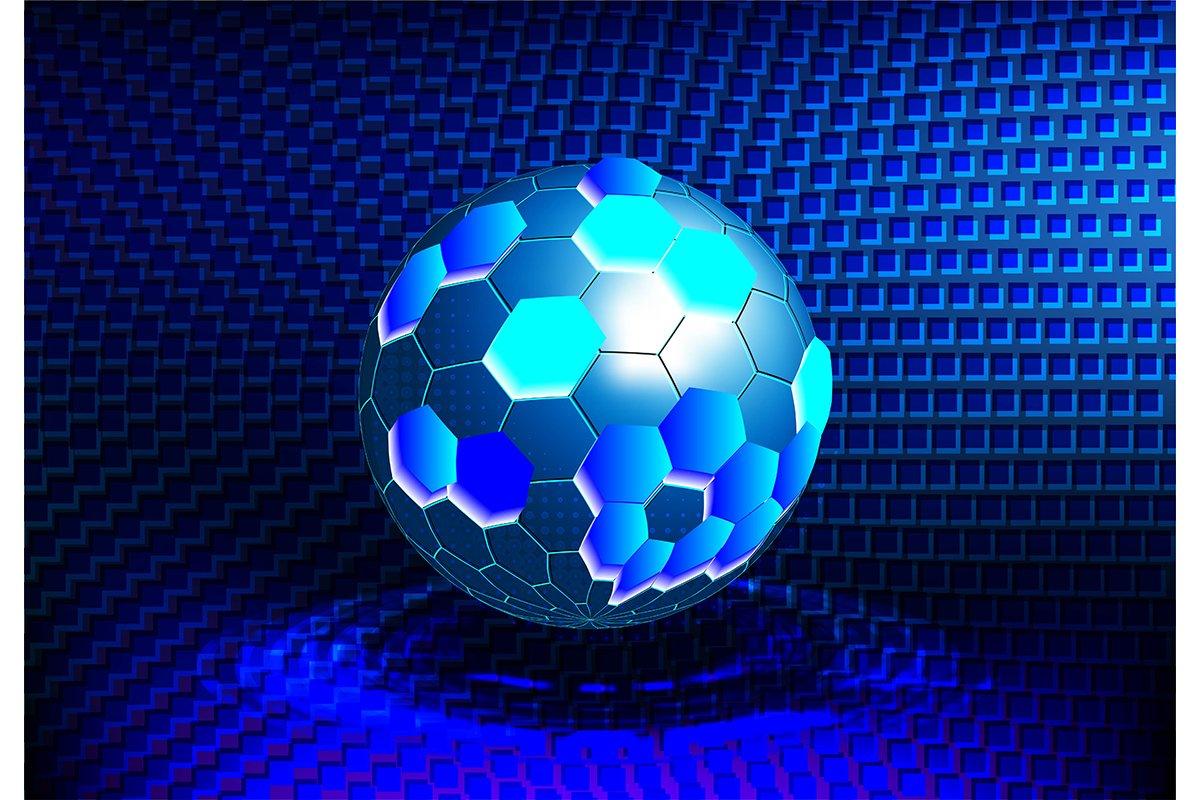 Molecular structure, Ball Tech, Technology Background, Vecto example image 1