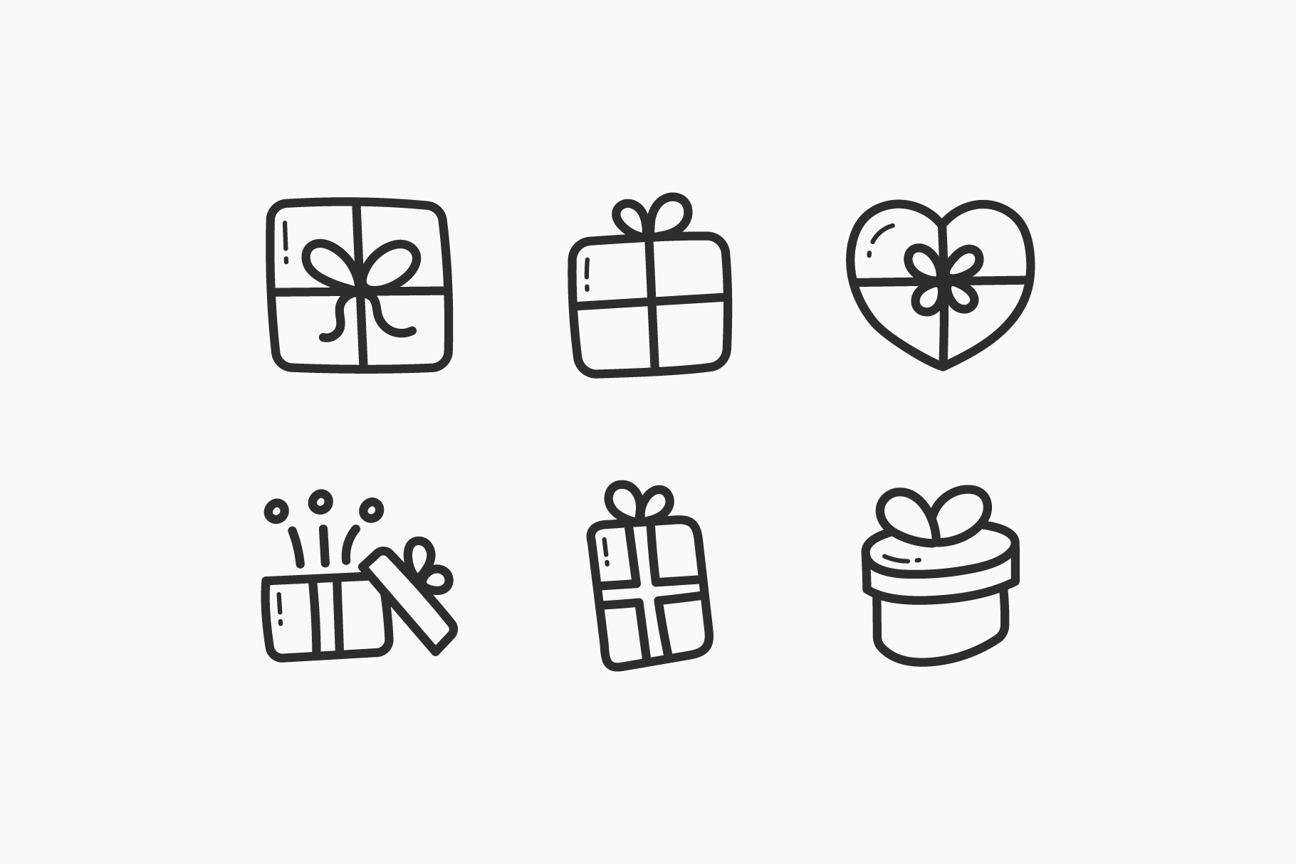 Presents Hand-Drawn Doodle Icons example image 3