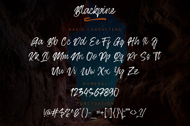 Blackpine - Handbrush Typeface YR example image 7