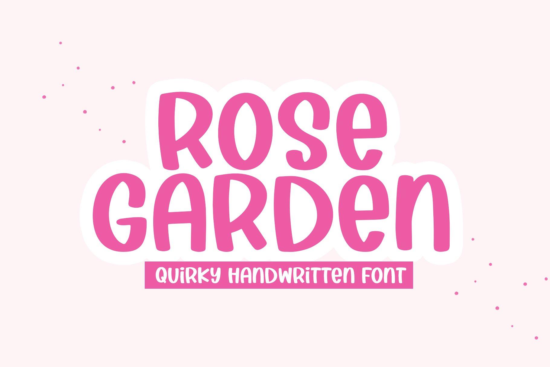 Rose Garden - A Handwritten Font example image 1