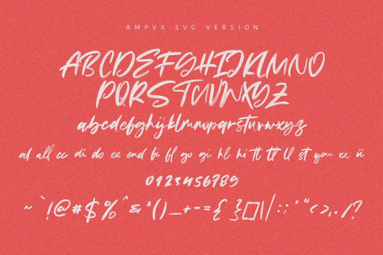 AMPVX SVG Brush Font Free Sans example image 8