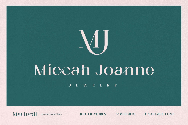 Matterdi | Hi-fashion ligature font example image 2