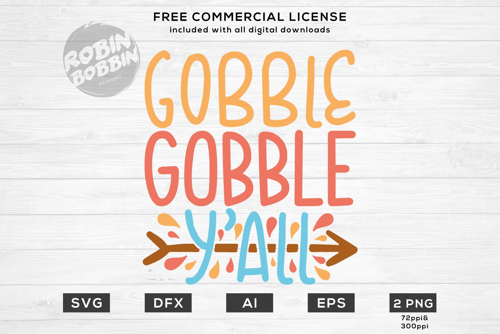Gobble Gobble Y All Thanksgiving Svg File 160671 Cut Files Design Bundles