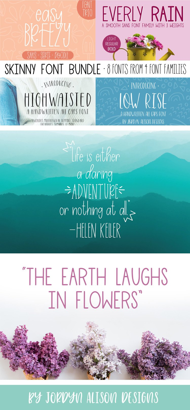 Skinny 4 Font Bundle, 8 Fonts from 4 Families example image 16