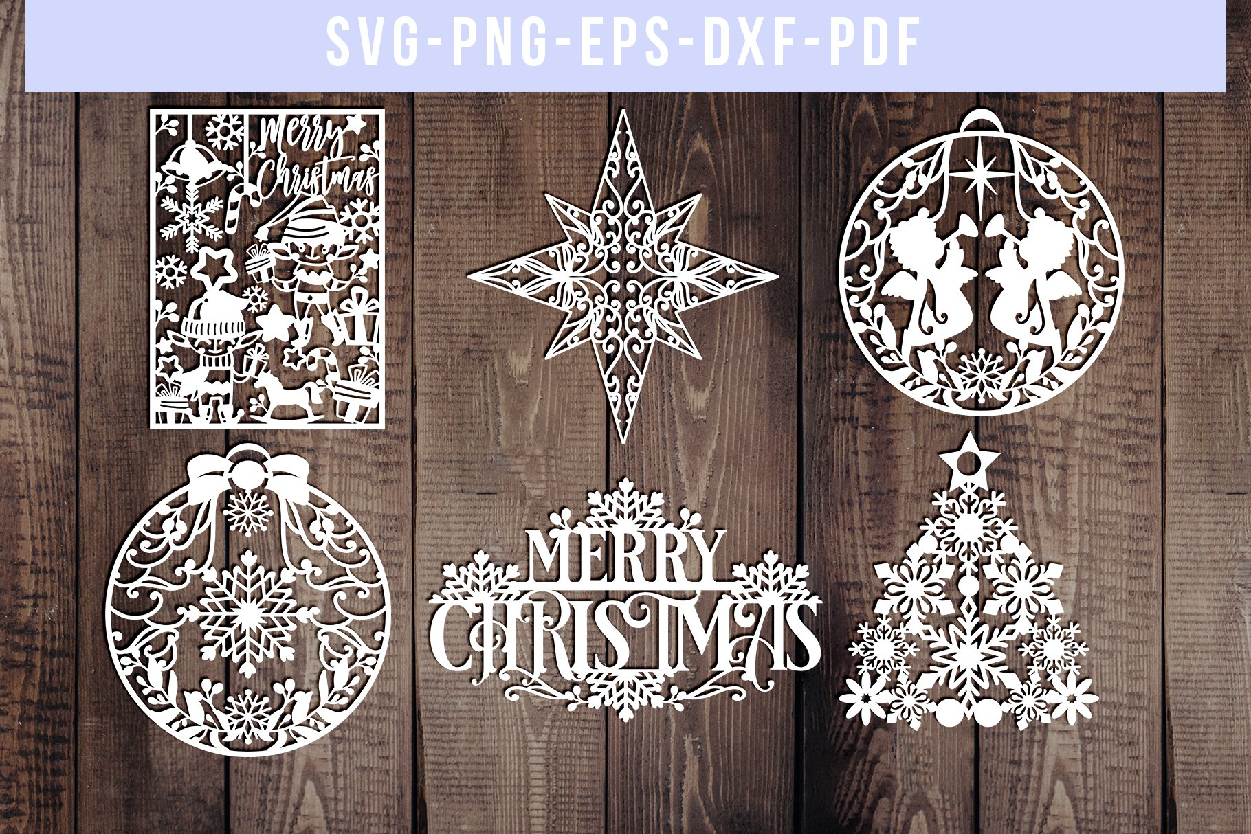 36+ Christmas Words – Svg And Dxf Cut Files – For Cricut, Silhouette, Die Cut Machines // Scrapbooking // Paper Crafts // Solipandi // #132 Image