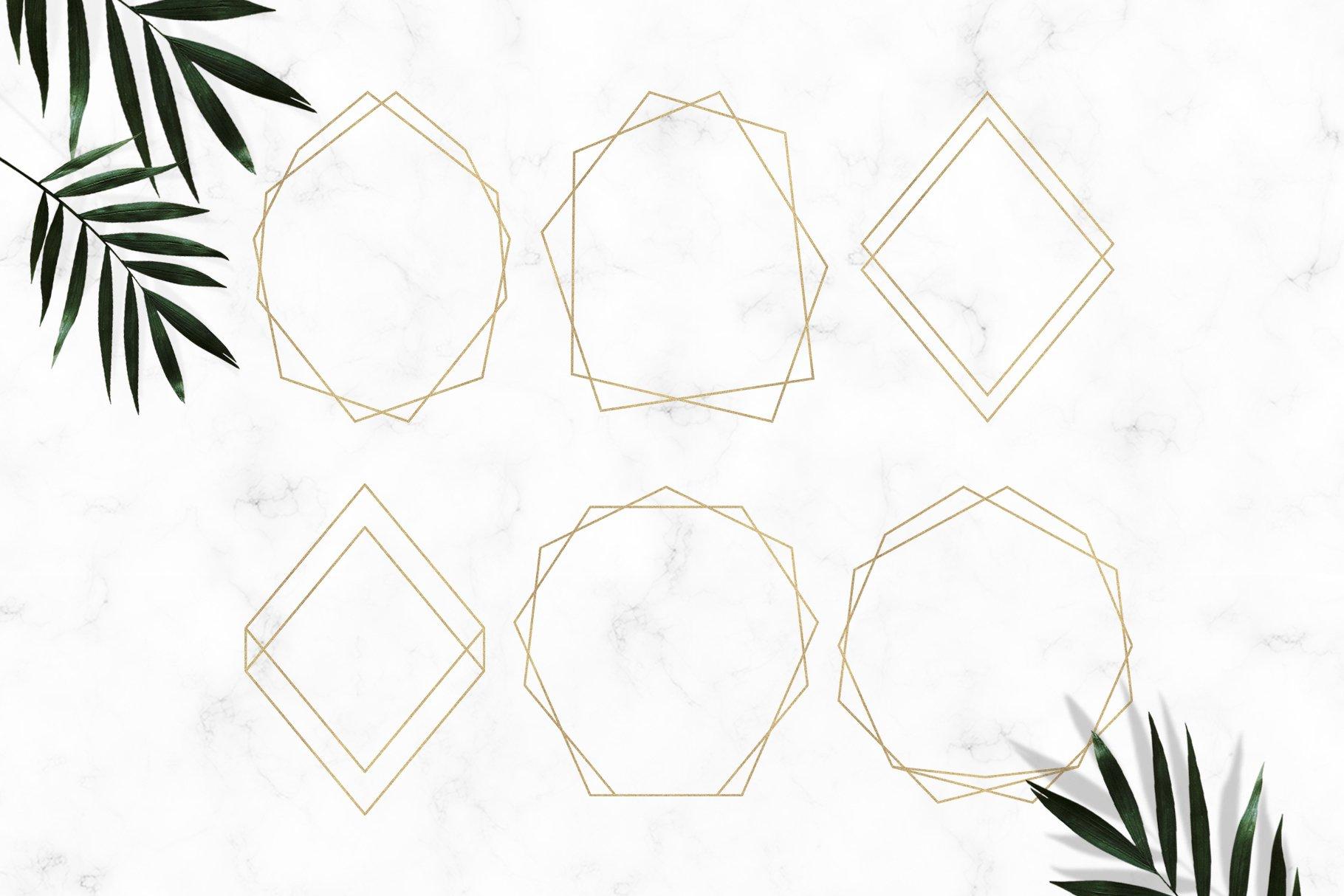 Gold Geometric Frames example image 3