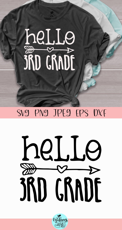 Hello third grade svg, teacher svg example image 2