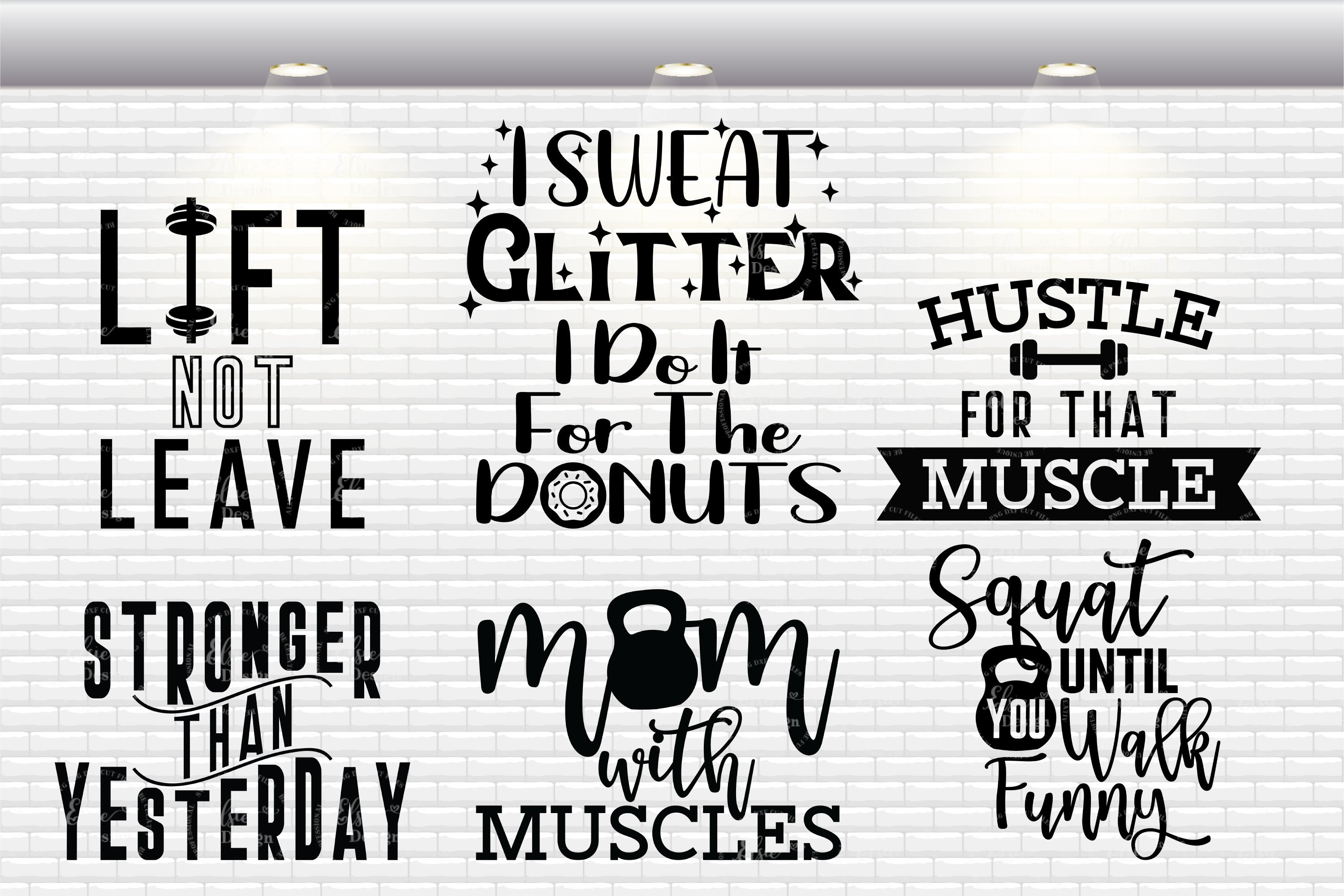 Workout Bundle - Fitness Bundle SVG Cut Files example image 2