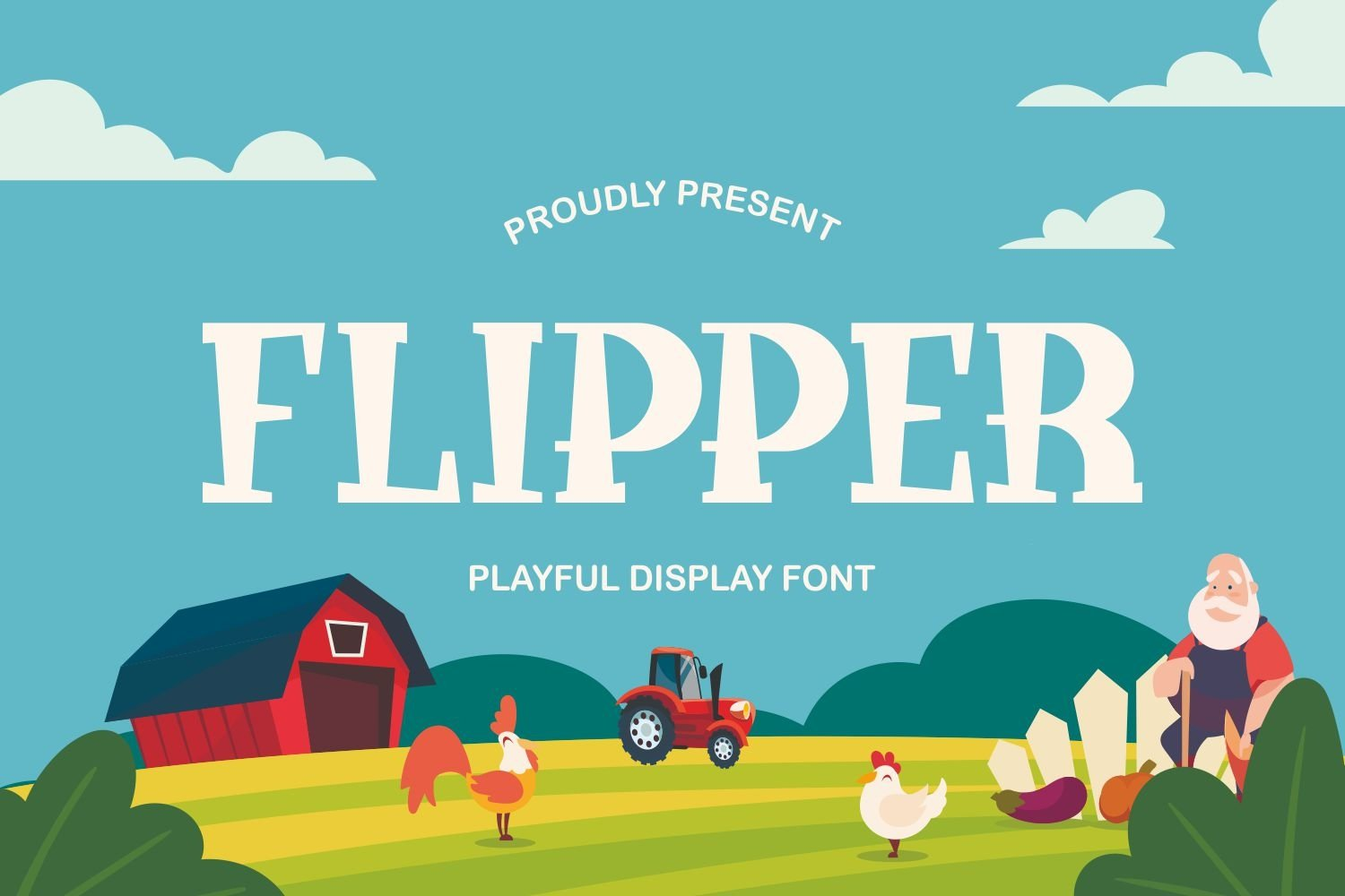 Flipper - Playful Display Font example image 1