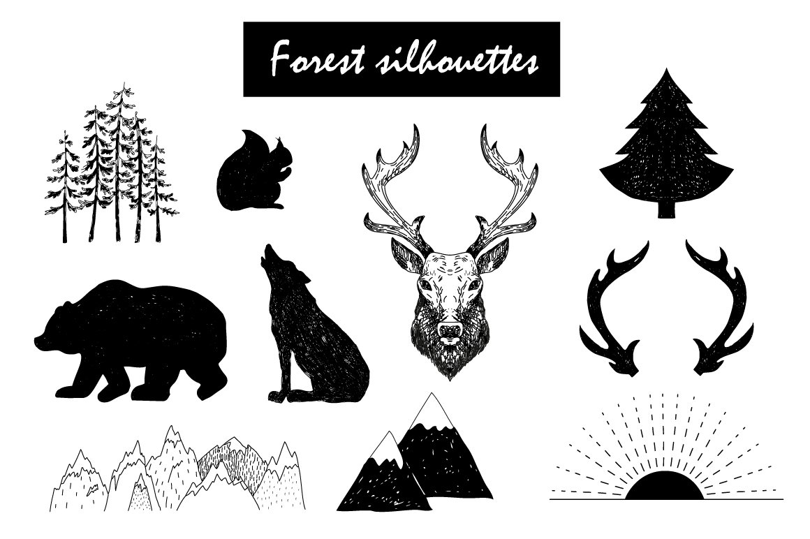 Wild Forest graphic pack example image 3
