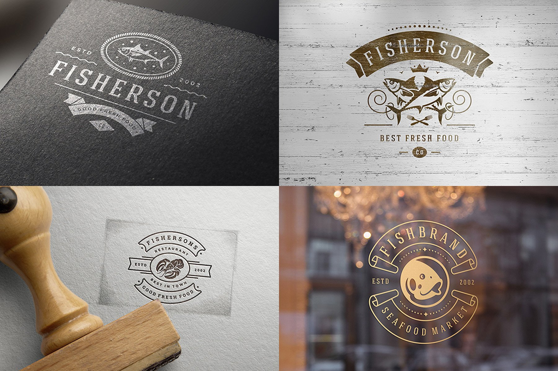 18 Seafood Logos & Badges example image 10