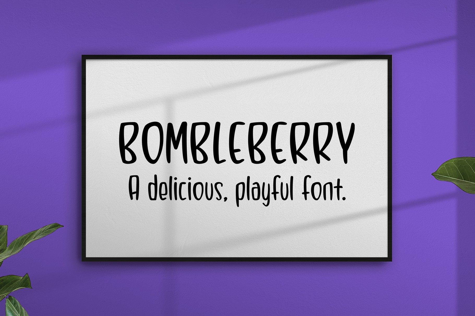 Bombleberry - a playful & tasty font example image 10